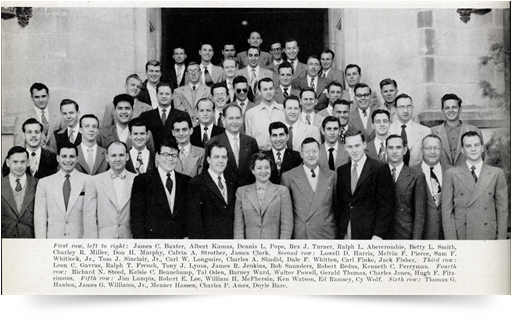 From University of Oklahoma College of Law Yearbook, Graduating Class of 1952