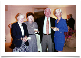 L to R: Nancy Butler, Suzanne & Ed Ward, Roz Levenson