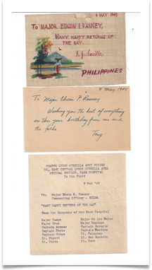 Ed's birthday card from the USAFEE hospital in Bulacan on May 9, 1945