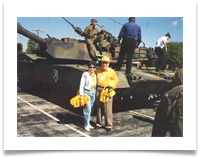 Ed and Raqui at Fort Knox, 1997