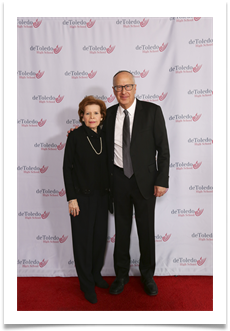 Dr. Bruce Powell and Raqui on the red carpet