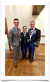 LTC Thomas Brede, Matthew Walters and Kelly Vu