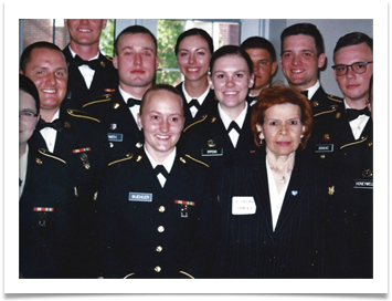 Raqui with several of the OMA Gold Program Cadets