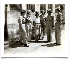 Nurses at the University of Santo Tomas where POWs were treated