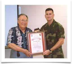 Presentation of the 17th Cavalry Regiment ORDER OF THE SPUR, 12 July 2001