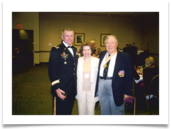 Maj.Gen Bob Durbin, CG of 1st Inf. Div. and Ft. Riley with Raquel and Ed Ramsey