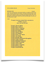Fiddlers Green Ceremony Program, page 2
