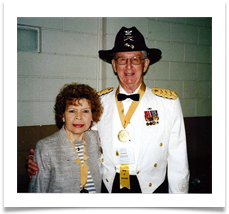 Sam Myers, Board member of the U.S. Cavalry Assoc with Raqui during the Cavalry Banquet