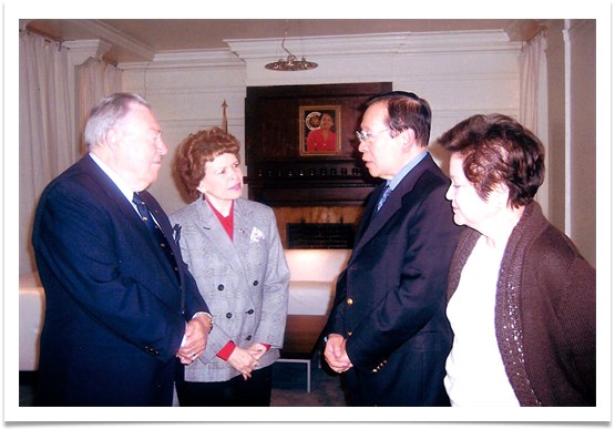 Col. & Mrs. Ramsey with Philippine Secretary of Foreign Affairs & Mrs. Alberto G. Romulo