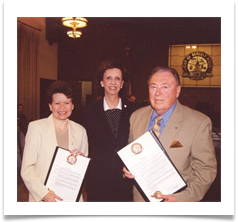 Proclamation honoring Ed and Raqui from Beverly Hills, CA by Mayor Vicky Reynolds