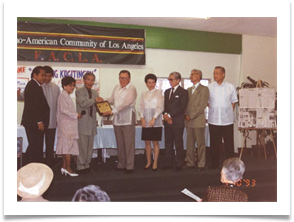 Filipino-American Community Los Angeles Award - 1992