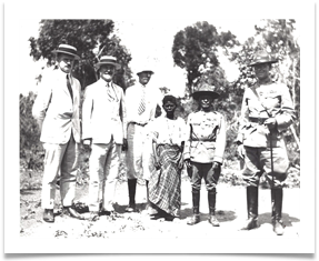 King Tom of the Pinatubu Negritos with the 26th Cavalry regiment (PS) Commanding Officer at the time