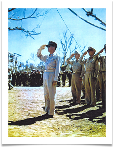 March 7 1945 -- Gen. MacArthur in Corregidor