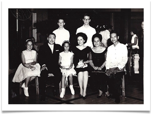 Ed and family honored at dinner, Malacanang Palace July 5, 1964
