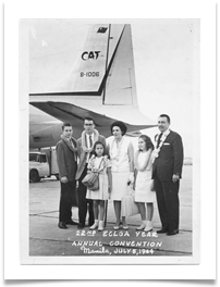 Arriving with family in Manila 1965 to receive Phillippines Legion of Honor Award