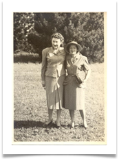 Mother with Mona Snyder in the US - 1945