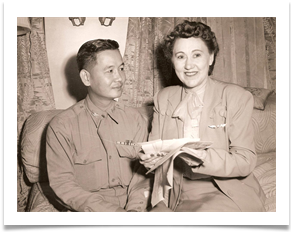 Mother with Col. Batista in Wichita