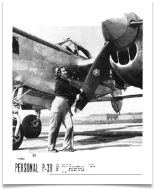 Nadine on LIFE Magazine Cover - Personal P-38
