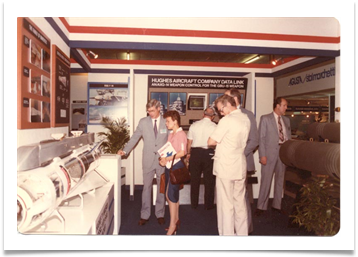 Mrs. Ramsey with Bill Collins of Highes Aircraft Co., Singapore