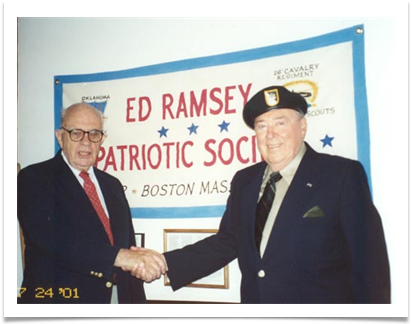 Patriotic Society Founder and President Tony Butler with the Society's Namesake