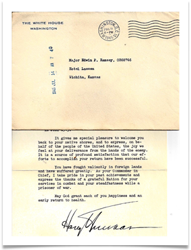 Letter from President Truman to Ramsey at Hotel Lassen, July 14, 1945